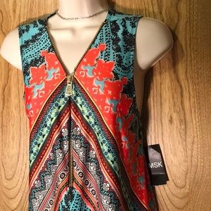 ☝🏻😍🔥Gorgeous! MSK Zip Indian Tribe Dress NWT!🏷
